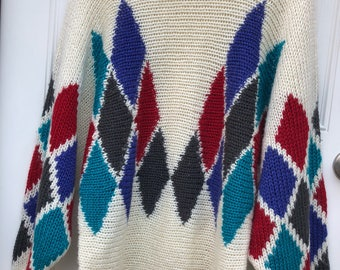 Vintage Tribal Print Sweater