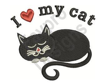 Love My Cat - Machine Embroidery Design