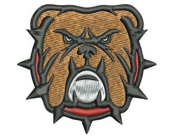 Bulldog Head - Machine Embroidery Design