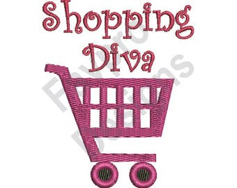 Shopping Diva - Machine Embroidery Design