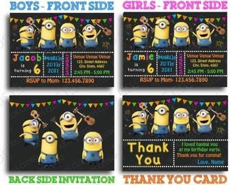 Minion Invitation, Minions Birthday Invite, Minion Birthday Invitation, Minion Birthday Party Invite,  Minion Party Printable, Minion Invite