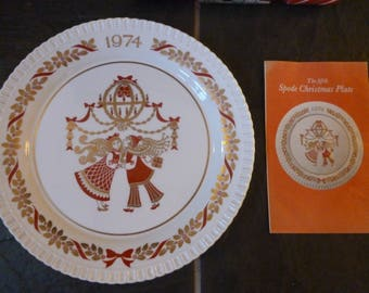 Limited edition Spode Christmas plate 1974