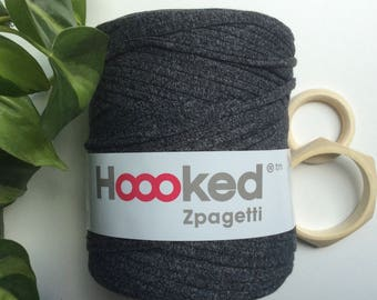 Granite Mellee* Grey t-shirt yarn by Hoooked, 120 meters, recycled cotton, macrame supplies, kids crafts, crochet and knitting supplies
