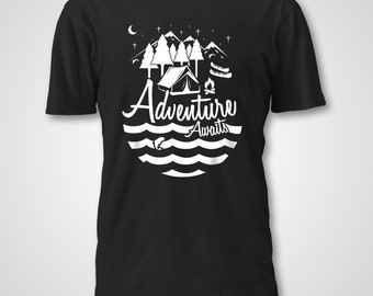Adventure Awaits, Mommy and Me Shirts, Camping Shirts, Daddy and Me, Hiking Shirts, Mountains Shirts, Gifts for Travellers, Matching Shirts