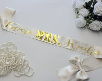 Plus Size Bachelorette Sash, Bridal Sash, Golg Foil, Future MRS, Bride To Be, Bridal Shower, Bride Tribe, Mommy To Be Sash, Birthday Sash