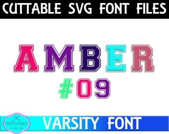 Jersey Letter Font | Football Font | Football Monogram Font | Varsity Letters| Football Jersey svg- Cut Files-svg, eps, dxf, png files