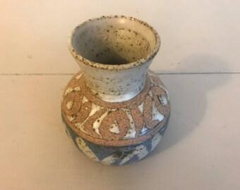 Short Ceramic Pottery Vase