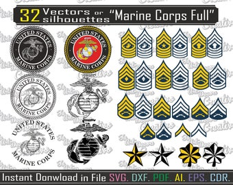 Marine Corps svg, vector Marines for printing, design for cutting, file svg, dxf, vector usmc for print file