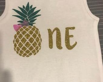 First Birthday Shirt Luau First Birthday Pineapple First Birthday