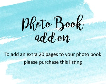 Photo Book / Guest Book - 20 Extra Pages Add On
