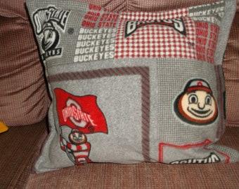 Ohio State Buckeye Pillow