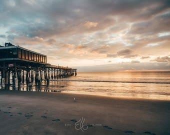 Florida Landscape Photography / Photography Canvas / Florida Photo / Cocoa Beach Pier / Florida Sunrise / Florida Canvas / Canvas Wall Art