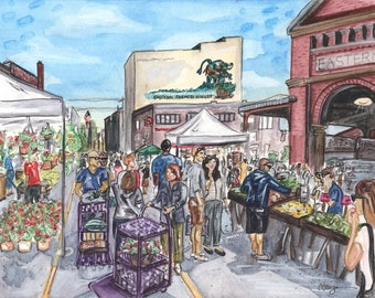 "Eastern Market Shopping 11""x 14"" print"