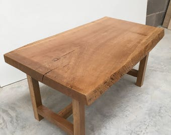 Waney/live Edge Solid Oak Coffee Table.