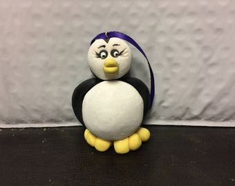 Penguin Christmas Ornament, Polymer Clay Ornament, Christmas Ornament