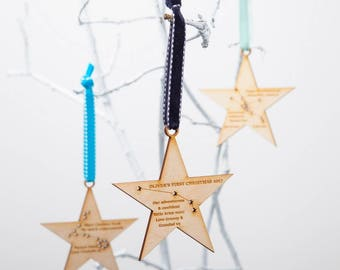 Personalised Star Sign Zodiac Constellation Bauble