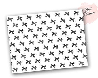 Printable - Black and White Bow Paper