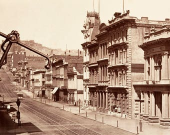 "1864 California St, San Francisco, CA Vintage Photograph 11"" x 17"" Reprint"