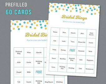 Aladdin Bridal Shower Bingo, Unique Prefilled 60 Cards Printable, Disney Fairy Tale, Bridal Shower Games, Bachelorette Bingo, Wedding  A016