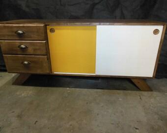 Vintage Buffet Colorika row custom Birch wood furniture