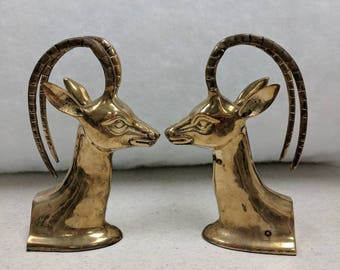 Brass Impala bookends Rosenthal Netter Numbered 11 - 745 Korea