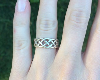 Silver Ring from Ireland w/ Celtic Knot