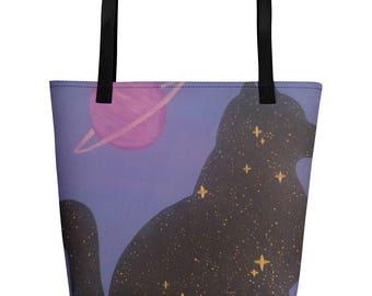 Cosmic Cat Beach Bag