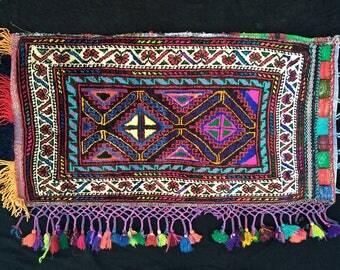 Moroccan pillow, tribal pillows, bohemian floor cushion, persian rug, colorful pillow, boho kilim pillow, native pillow, gift her a pillow