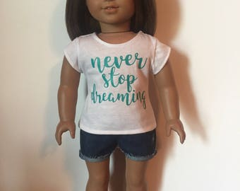 Graphic Tee made to fit 18 inch dolls such as American Girl Dolls