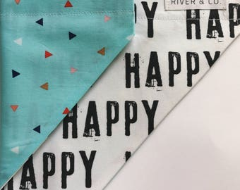 Happy | Reversible Dog Bandana
