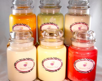 Soy Candles:Mothers day, candle gift, natural soy, Handmade candles, scented soy candle.