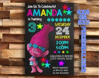 Trolls - Trolls Invitation - Trolls Birthday - Trolls Party - Trolls Birthday Invitation - Trolls Party Invitation - Trolls Printable Invite