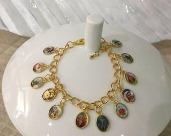 Religious Charm Bracelet