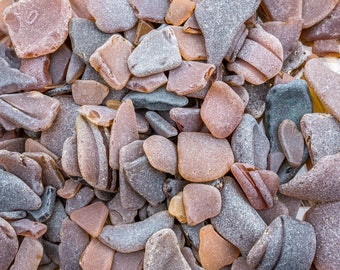 Scottish Beachcombed Sea Glass: Brown Sea Worn Pieces for Crafts/Mosaics 100g