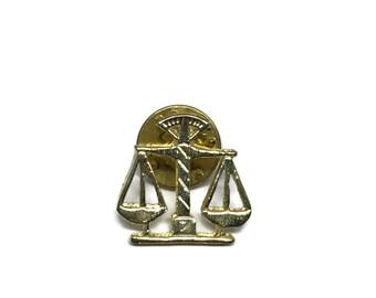 Scales of Justice Vintage Tie Pin