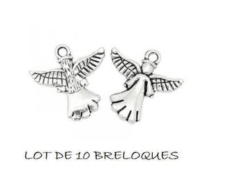 set of 10 charms Angel baptism communion Silver (11)