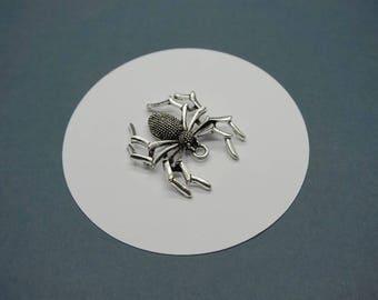 charm big spider halloween 3D Silver 3cm (Da9)