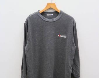 Vintage KAEPA Casual Small Logo Sportswear Gray Sweater Sweatshirt Size L