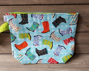 Rainy Rhinebeck fabric project bag