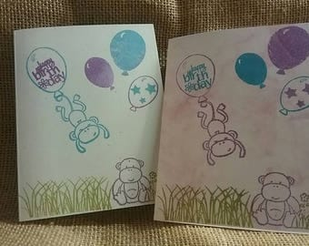 Happy Birthday Card set of five