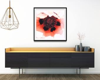 Large Printable For Living Room, Modern Bathroom Wall Decor, Bedroom Printable Wall Decor, Large Printable Photo Decor, Large Flower Poster