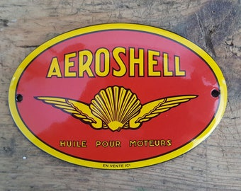 Antique French enamel plaque accounting requires time (AEROSHELL)