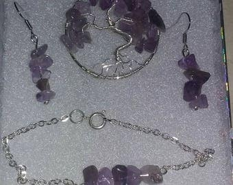 Amethyst jewelery set
