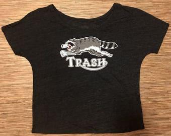 Triumph Raccoon Women's slouchy neck T-shirt