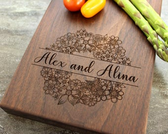 Personalized Cheese Board, Serving Board, Bread Board, Custom, Engraved, Wedding Gift, Housewarming Gift, Anniversary Gift, Engagement #8