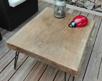 Table oak low - pin legs