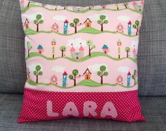 Pink Princess pillow with name