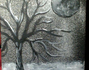 Black Tree in Snow