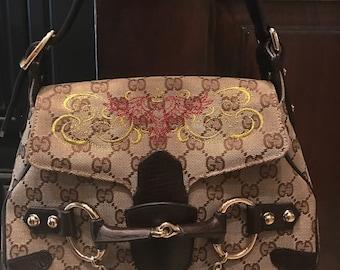 Custom embroidered Gucci purse