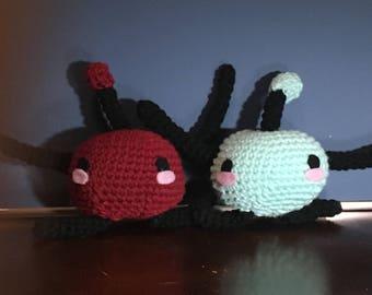 Stardew Valley, Junimo, crochet plushie, amigurumi, 100% acrylic